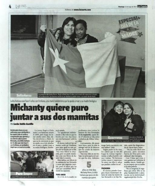 Diario La Tercera y La Cuarta reconoce vocación de nuestras Mamás ...